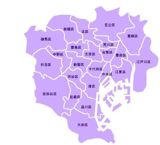 东京23区范围