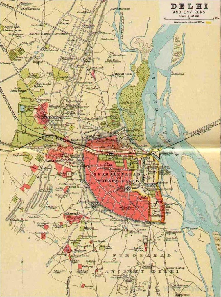 印度新德里地图